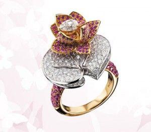 Bague Fleur de Lotus Leon Hatot.