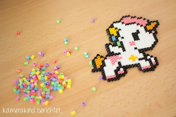 b gelperlen einhorn unicorn perler beads kawai b gelperlen perler beads beads und hama beads. Black Bedroom Furniture Sets. Home Design Ideas