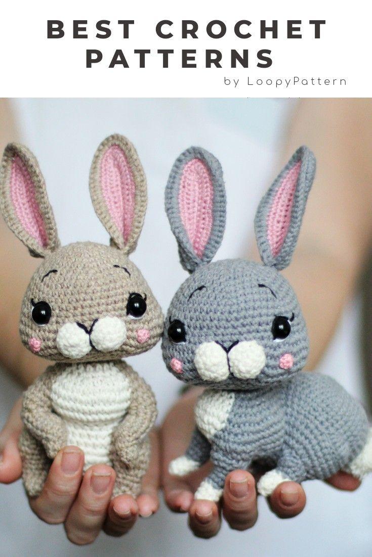 Free Crochet Pattern – Bunny Rabbit Amigurumi Doll – Goddess Crochet | 1102x735