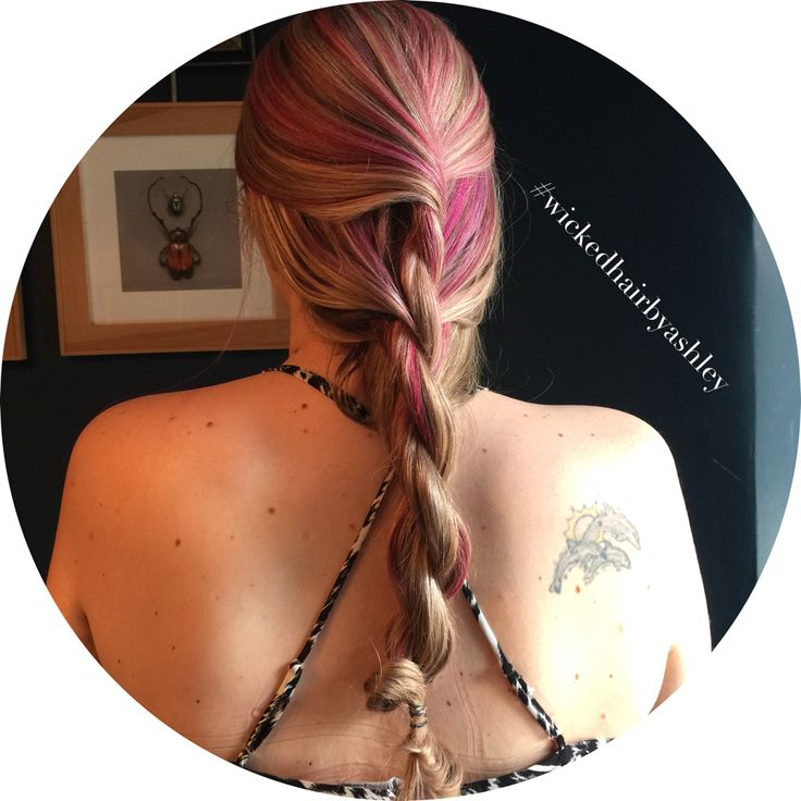 Pink and braids what more could you ask for ?!