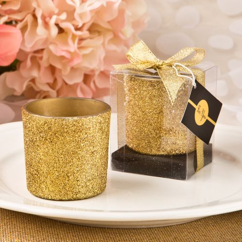 Bling Collection Gold or Silver Glitter Candle Votive (as low as $1.69 each)