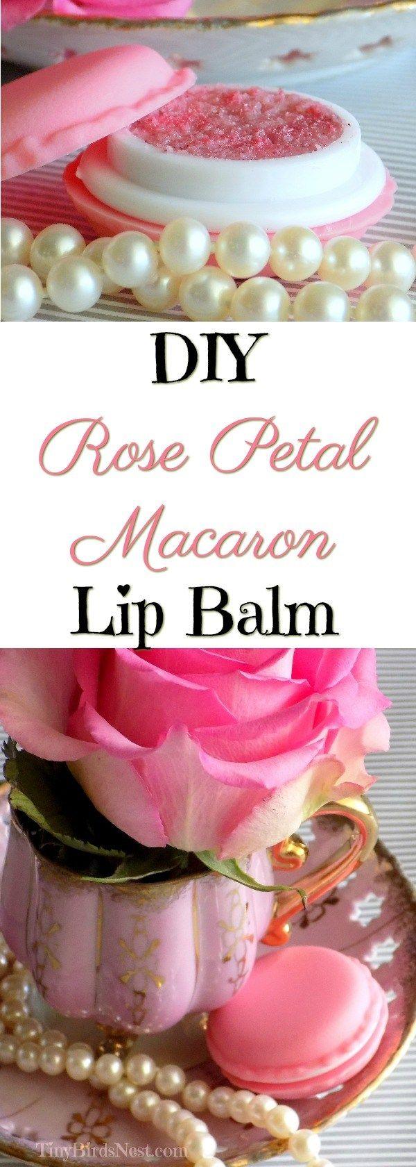 Rose Petal Macaron Lip Balm DIY Tutorial - Tiny Bird's Nest