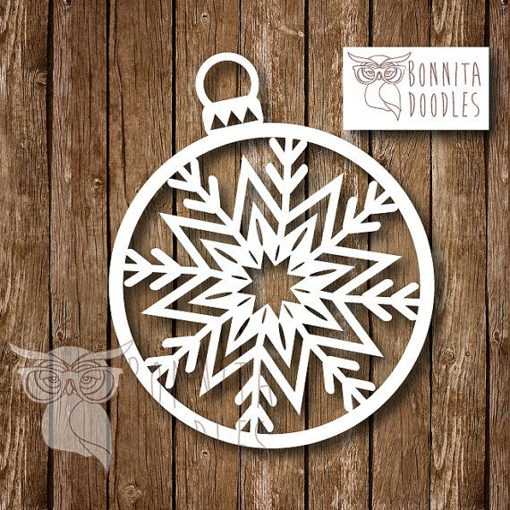 Christmas Snowflake Personal papercut template by BonnitaDoodles