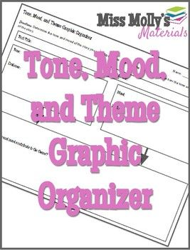 Tone, Mood, and Theme Graphic Organizer $1.49    CCSS ELA-LITERACY.RL.9-10.2:Determine a theme or central idea of a text and analyze in detail its development over the course of the text, including how it emerges and is shaped and refined by specific details