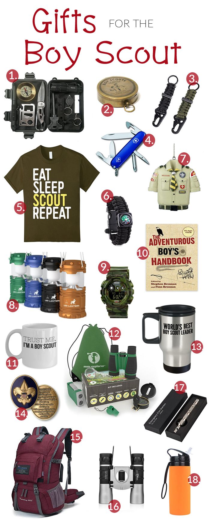 Great gift ideas for your Boy Scout, Scout leader, or anyone involved in scouts, young or old.