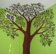hmmm repaint x's room green with this tree in the corner????