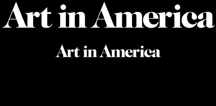 """Love the way the site content scrolls behind the header bar, and """"Art in America"""" header is knocked out."""