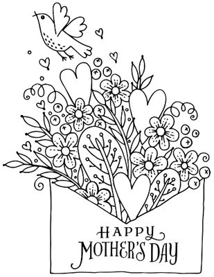 Coloring Surprise<br>for Mom Mother's Day Printable Cards