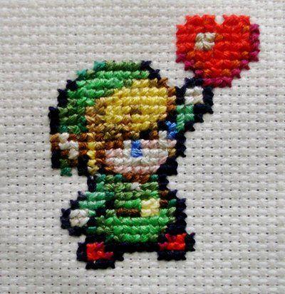 Kawaii cross stitch Link by ~kawaiicute95 on deviantART