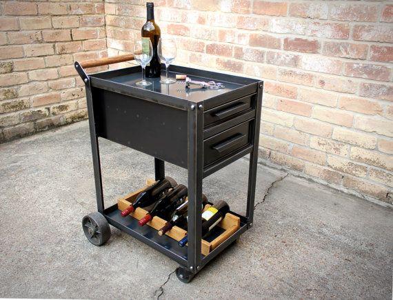 Carro de bebidas industriales con cajones  Carro de servir