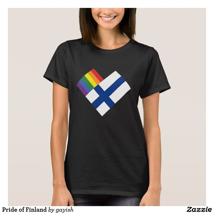 Pride of Finland t-shirt.  #gaypride #tshits #prideshirt #pride #flags #heart #gayrights #finland #suomi #gayfinland #gaysuomi #homosuomi #tpaita #pridepaita