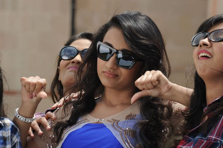 Actress Trisha Glamourous Pics in Blue Dress