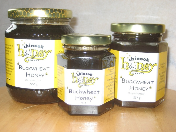 Buckwheat #Honey - Even if you consider the flavour of Buckwheat honey too strong, it still deserves a place in your pantry. For one thing, it is said that darker honeys contain more antioxidants. Antioxidants battle free radicals, and help fight heart disease and cancer, amongst other illnesses. Buckwheat honey is also a great source of iron and is higher in mineral content than any other Canadian honey. In addition, recent research has shown that it is very effective for children's coughs.