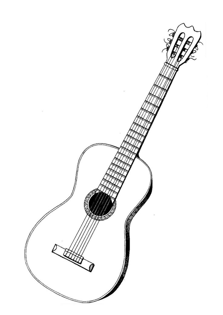 Bien-aimé Les 25 meilleures idées de la catégorie Dessin de guitare sur  DU63