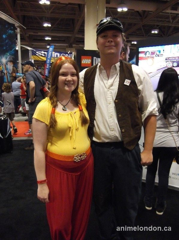 Sheeta and Pazu from Laputa: Castle in the Sky #FanExpo2015 #cosplay