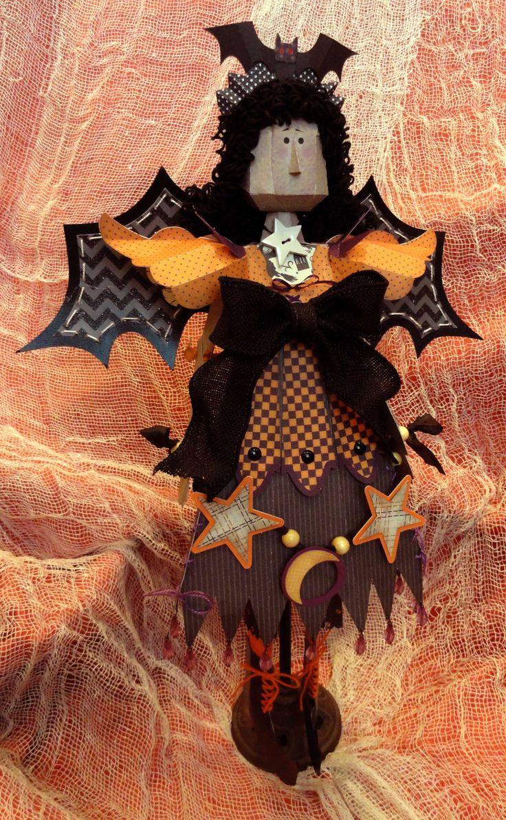 JGW 3D Witch kit Halloween SVG svgattic svg Paper