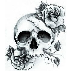 feminine skull tattoos - Google Search