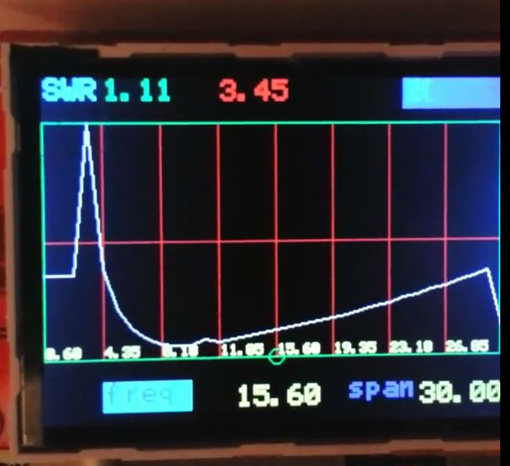 Antenna analyser with ad9850 and ili9341tft, poor hams scalar network analyser, diode peak detector, lm324