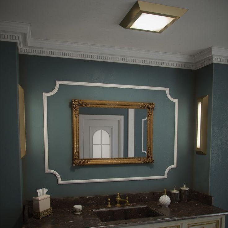 Kolekcja oświetlenia łazienkowego Aurora Satina. Kinkiety i plafony w kształcie sztabek złota i z wysokimi klasami szczelności IP44.  Oświetlenie dla wymagających i chcących żyć z pomysłem.