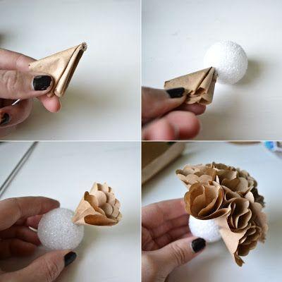 DIY : des fleurs d'hortensia en papier