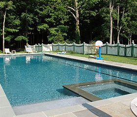 rectangular pools with spa - Google Search