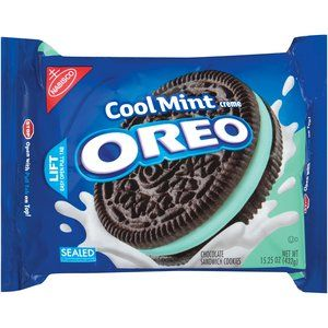 Nabisco Oreo Chocolate Cool Mint Creme Sandwich Cookies, 15.25 oz $3.00 at walmart. Can get 2 maybe?