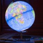 Personal Office Design – Unique Globe Table Lamp – Globee Light Up Globe Of The World