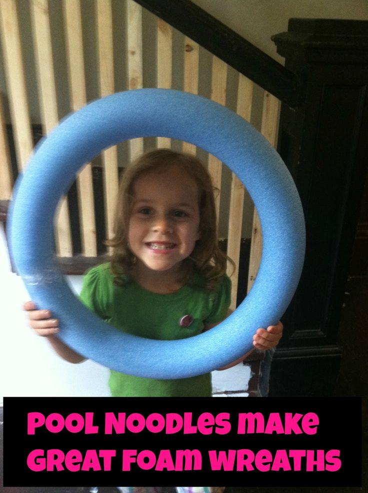 Pool noodle = foam wreath = another dollar store DIY :)