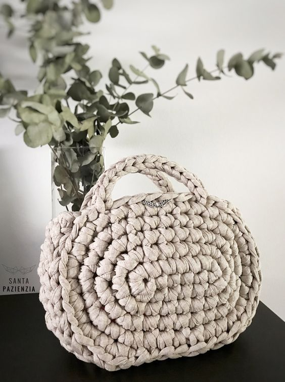 DIY Capazo Midi Trapillo. Santa Pazienzia. Patrón crochet blog ...