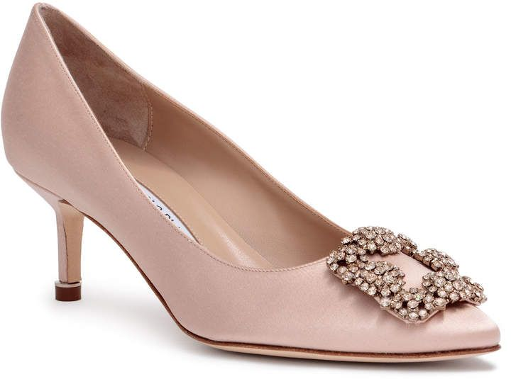 9796d11453f16 Hangisi 50 beige satin pumps | shoes | Manolo blahnik hangisi ...