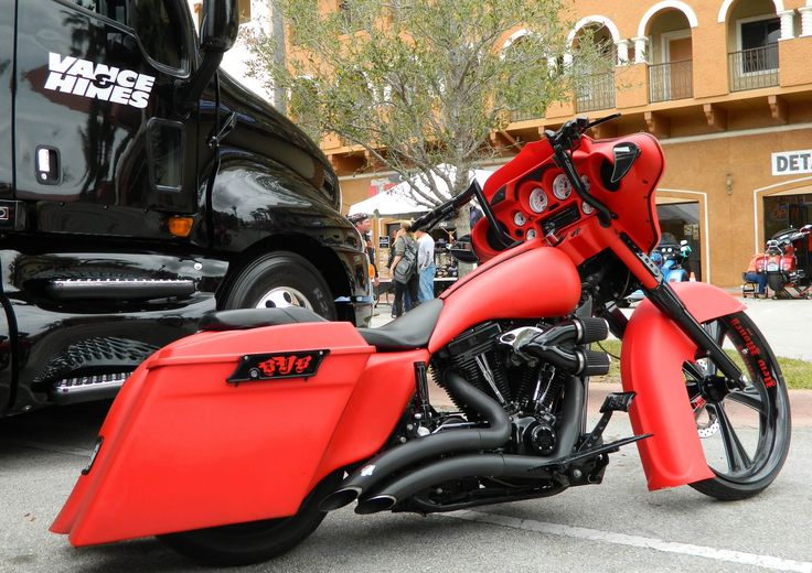 Vance & Hines Black Big Radius on Custom Street Glide at Daytona Bike Week 2013.
