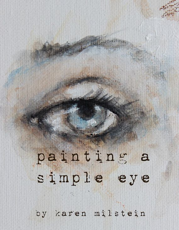 how to sketch & paint a simple eye.... my new online by fadedwest, $9.99