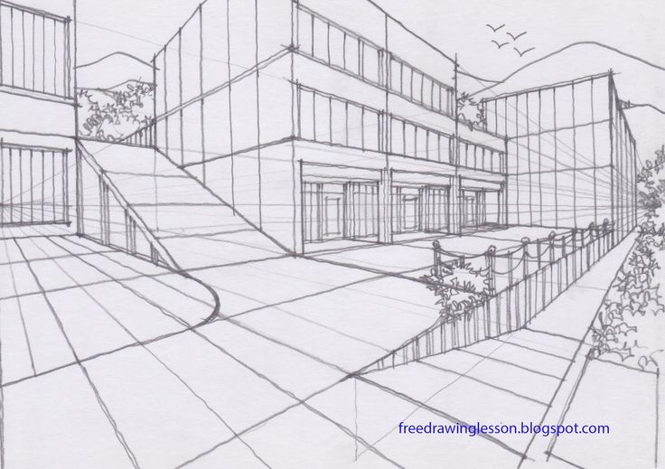 Draw Ramp In Two Point Perspective Sketch Draw Free Drawing