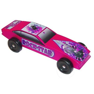 Rock Star Pinewood Derby Car Kit for Girls