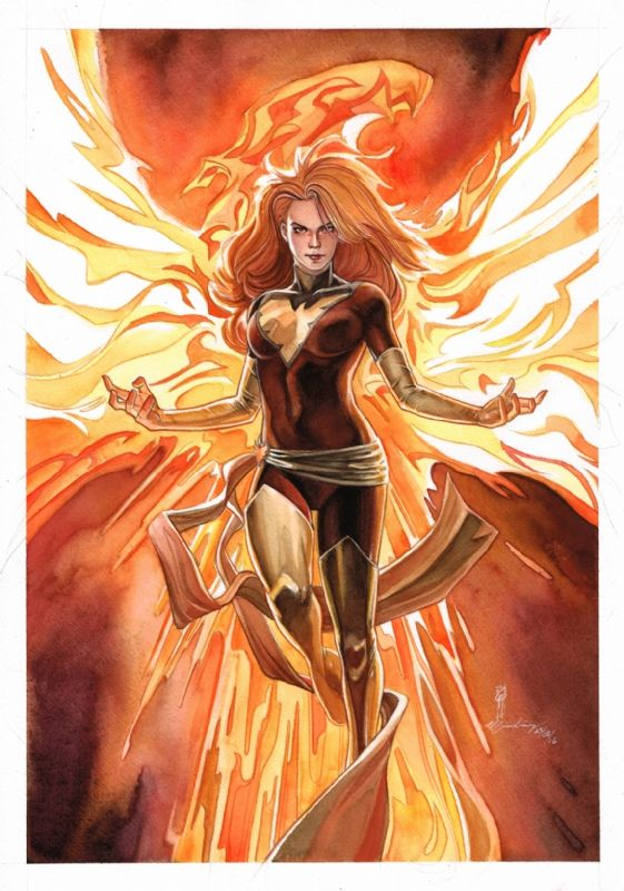 Dark Phoenix of X-Men by Garrie Gastonny & elfandiary - Open for commissions! Comic Art