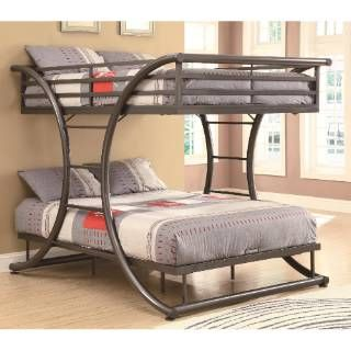 Check out the Coaster Furniture 460078 Bunks Full-over-Full Contemporary Bunk Bed in Gunmetal priced at $759.00 at Homeclick.com.