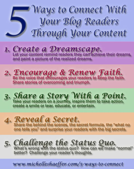 5 ways to connect with your #blog readers via @Michelle Shaeffer