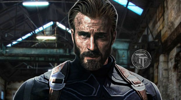 Captain America Beard Look In Infinity War Captain America Wallpaper Captain America Chris Evans Captain America