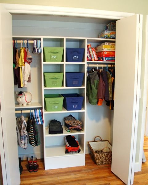 AFTER- Revamped closet....love this!!!    {Inspiration}    these-2-hands.com