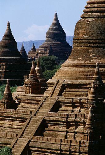 Ancient temples . Bagan, Myanmar