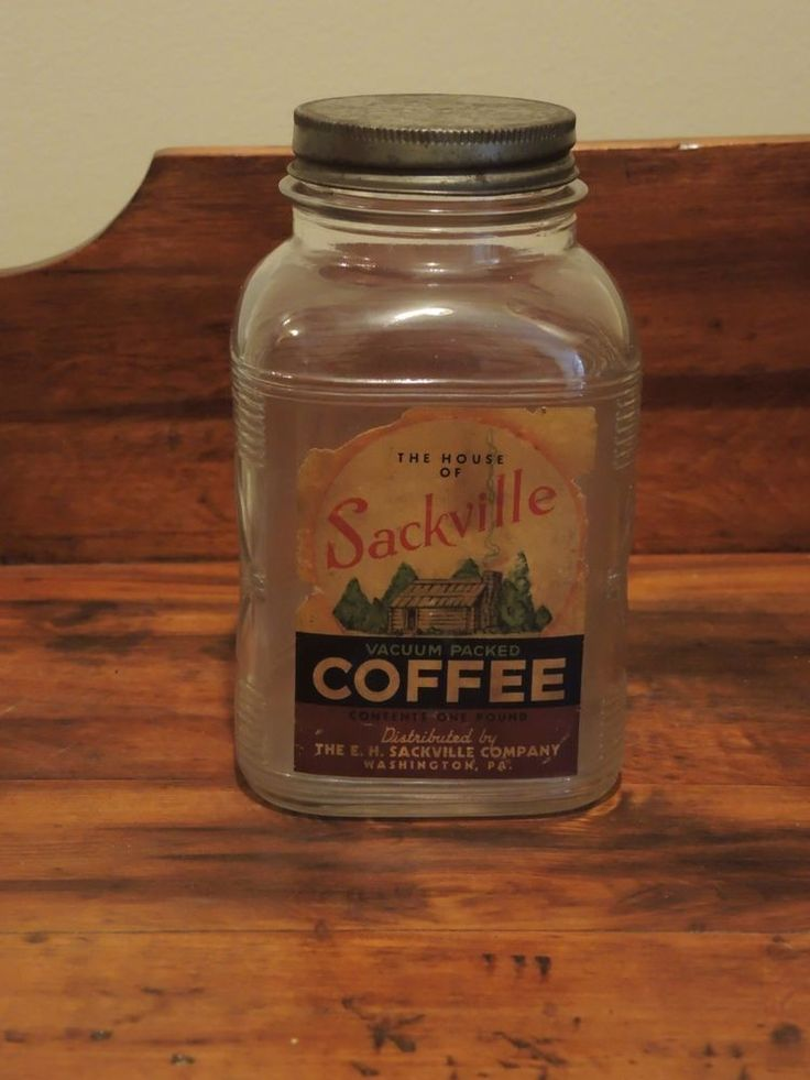 Rare Vintage Advertising Sackville Coffee Glass Jar