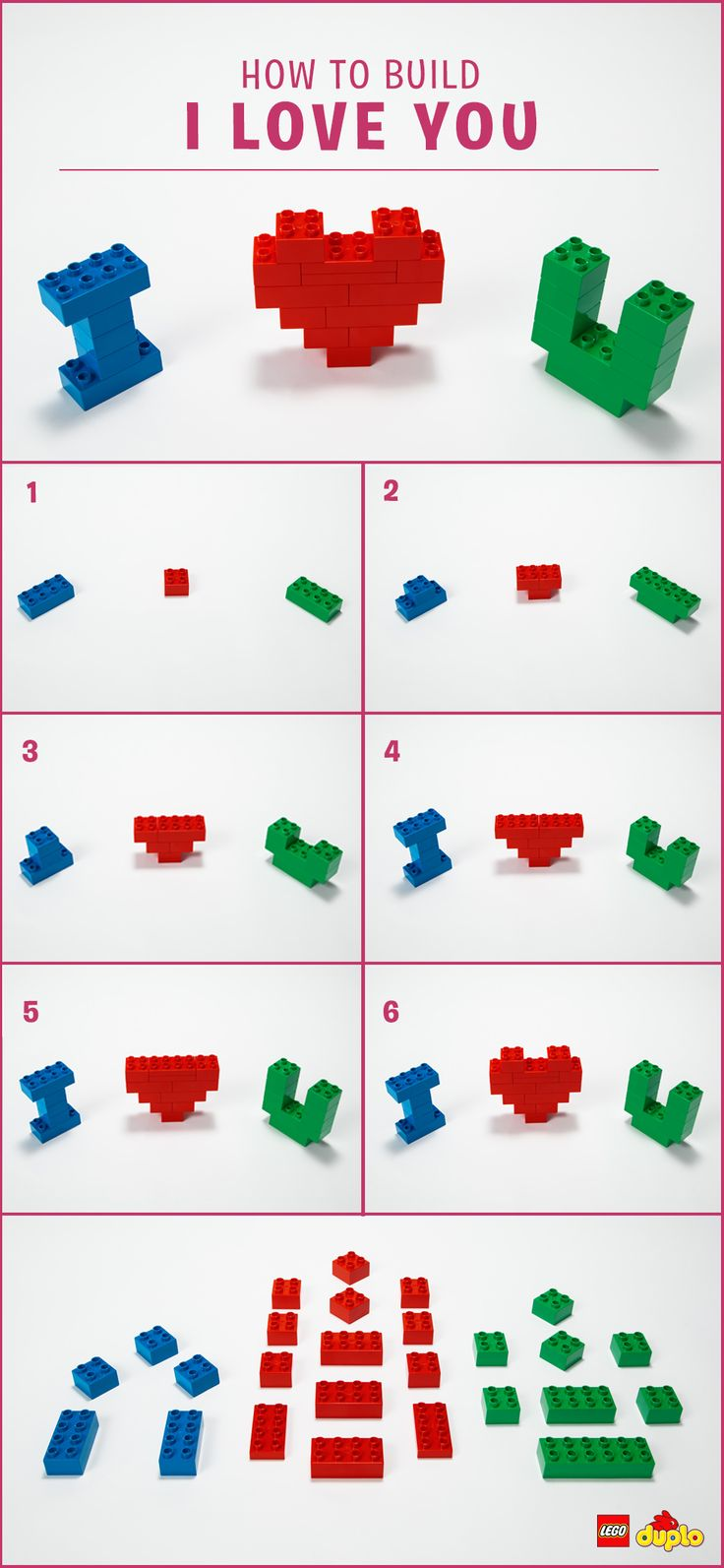 Whether they are big or small, why not remind that special someone in your life how much you care for them in a creative and fun way? <3 Check out our building instructions here: http://www.lego.com/en-us/family/articles/heart-melting-valentines-crafts-for-toddlers-2949acf1ebe14db6a8ff0a1b6cf95a30