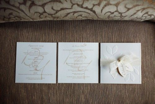 Wedding Stationary. White Wedding