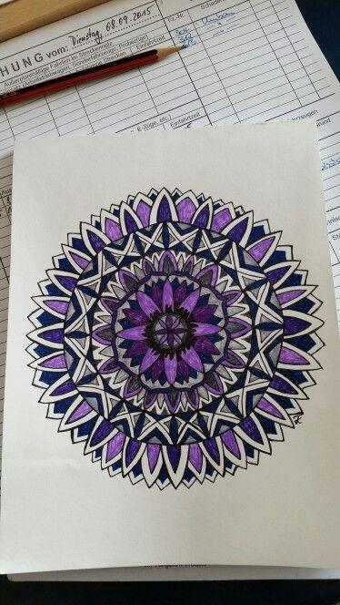 Mandala, mein Bild, meine Arbeit, frei Hand gemalt tk