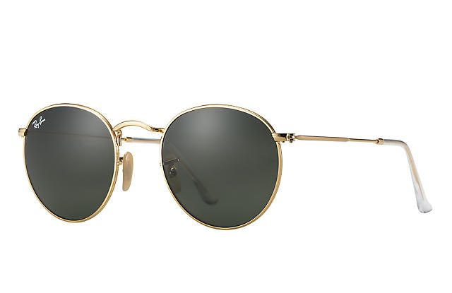 Ray-Ban 0RB3447-ROUND METAL Guld SUN