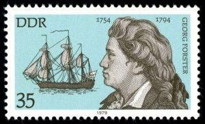 Briefmarke mit Georg Forster aus der DDR von 1979 (MiNr. 2410)