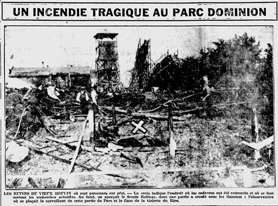 Incendie tragique au Parc Dominion