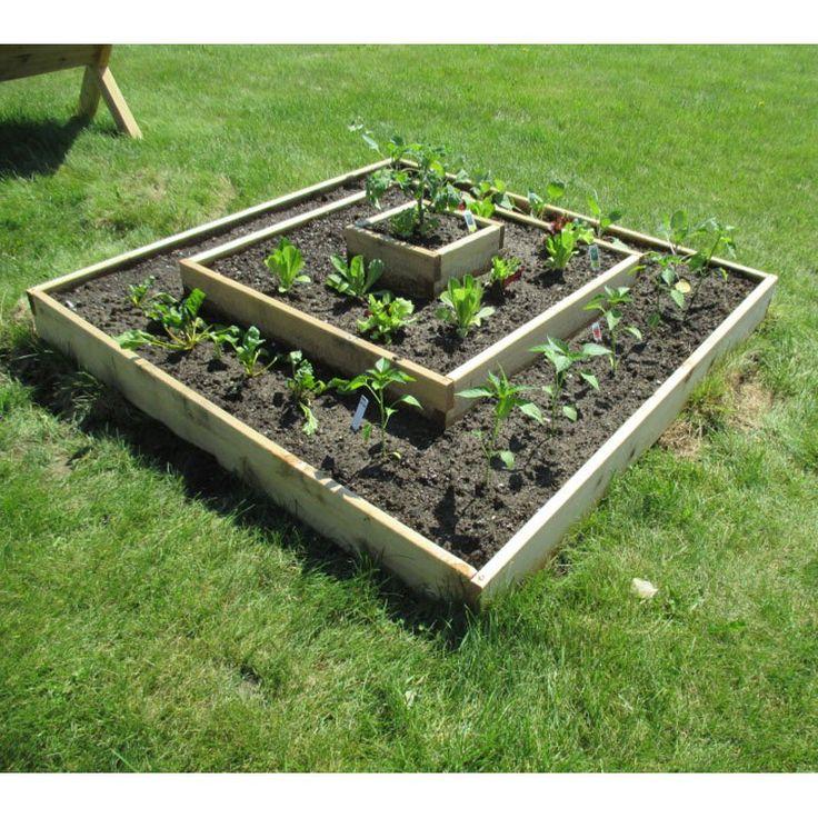 Infinite Cedar Multi Level Raised Garden Bed Kit