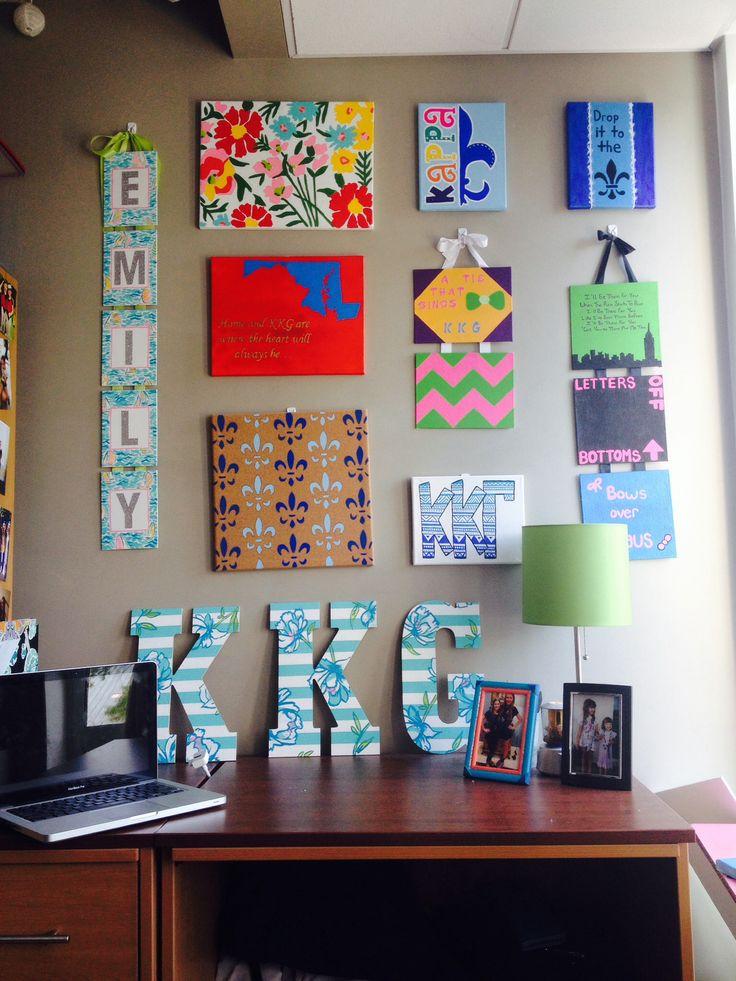 Decorating Ideas > Pin By Candace Gordon On Kappa Kappa Gamma  Pinterest ~ 062437_Dorm Room Canvas Ideas