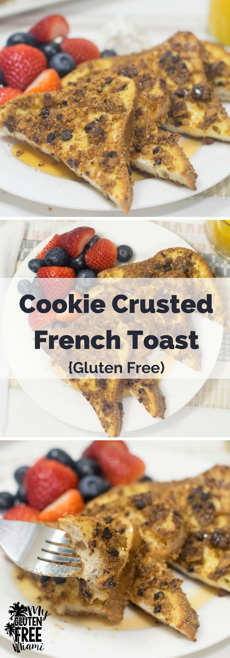 Everyone loves French Toast, take it to the next level with Cookie Crusted French Toast- the perfect, indulgent gluten free breakfast. via @GLUTENFREEMIAMI